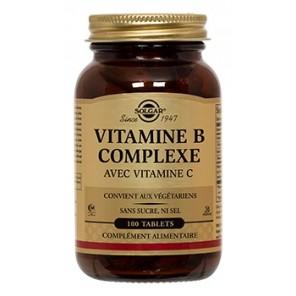 Solgar Vitamine B Complex avec vitamine C 100 comprimés