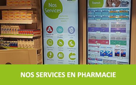 Nos services en pharmacies